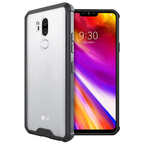 Hybrid Acrylic Bumper Hard Case for LG G7 ThinQ - Black / Clear